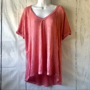 Free People We The Free Rosy Oversized Tee Shirt